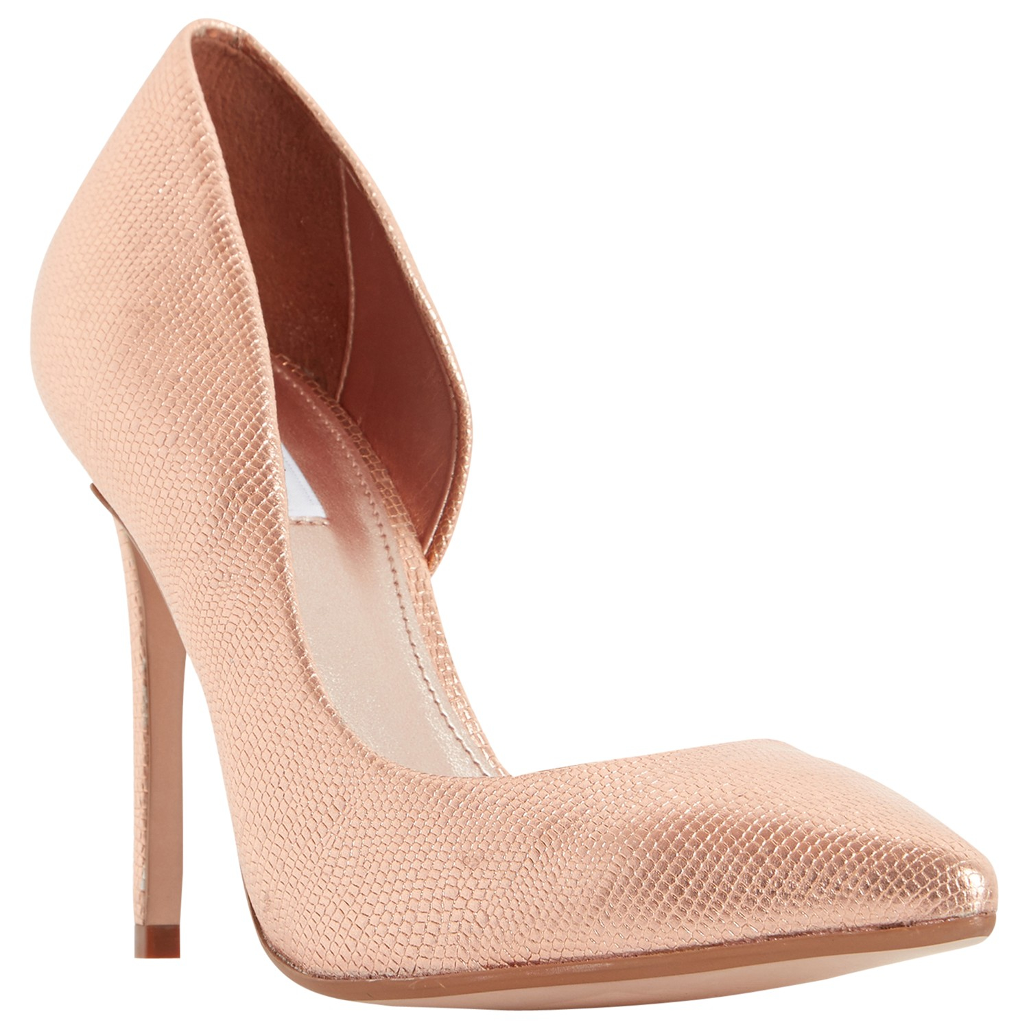 9e35585b235a Dune Clarah Asymmetric Stiletto Heeled Court Shoes in Pink - Lyst