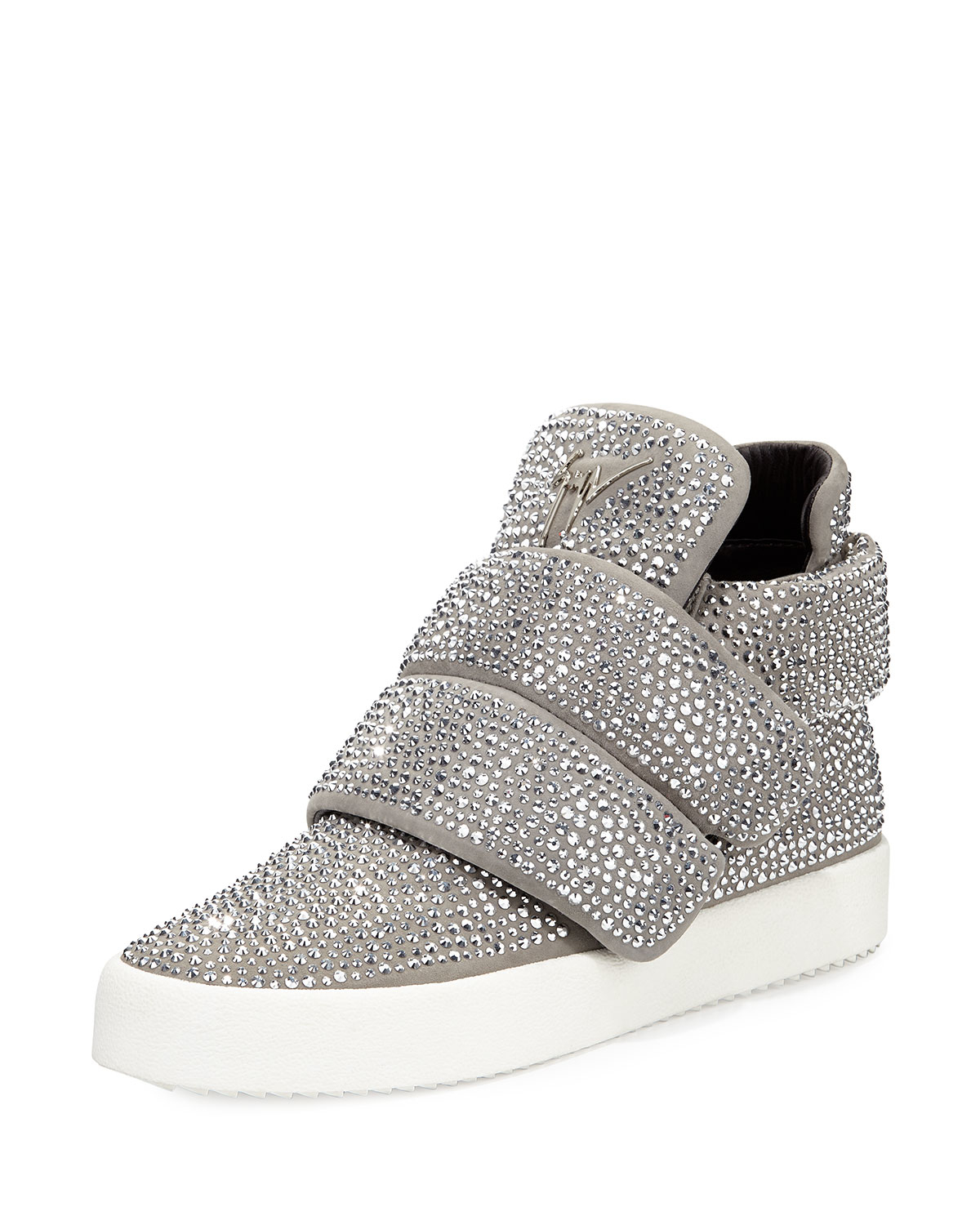 Lyst - Giuseppe Zanotti Crystal-Embellished High-Top ...