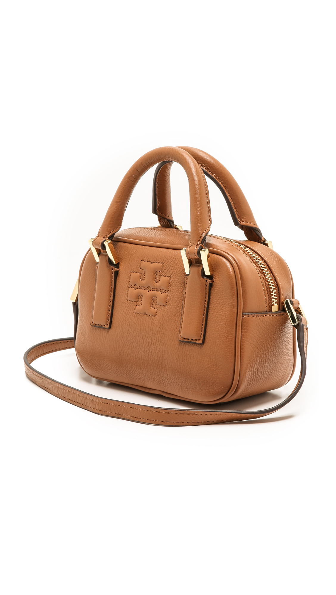 447aab6ad82 Lyst - Tory Burch Thea Mini Satchel in Brown