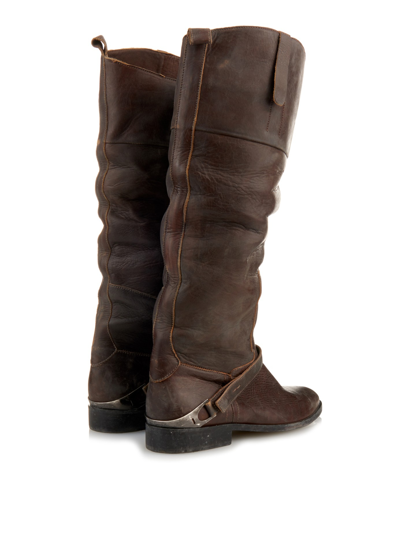 Golden Goose Leather Riding Boots b4JJnKm7