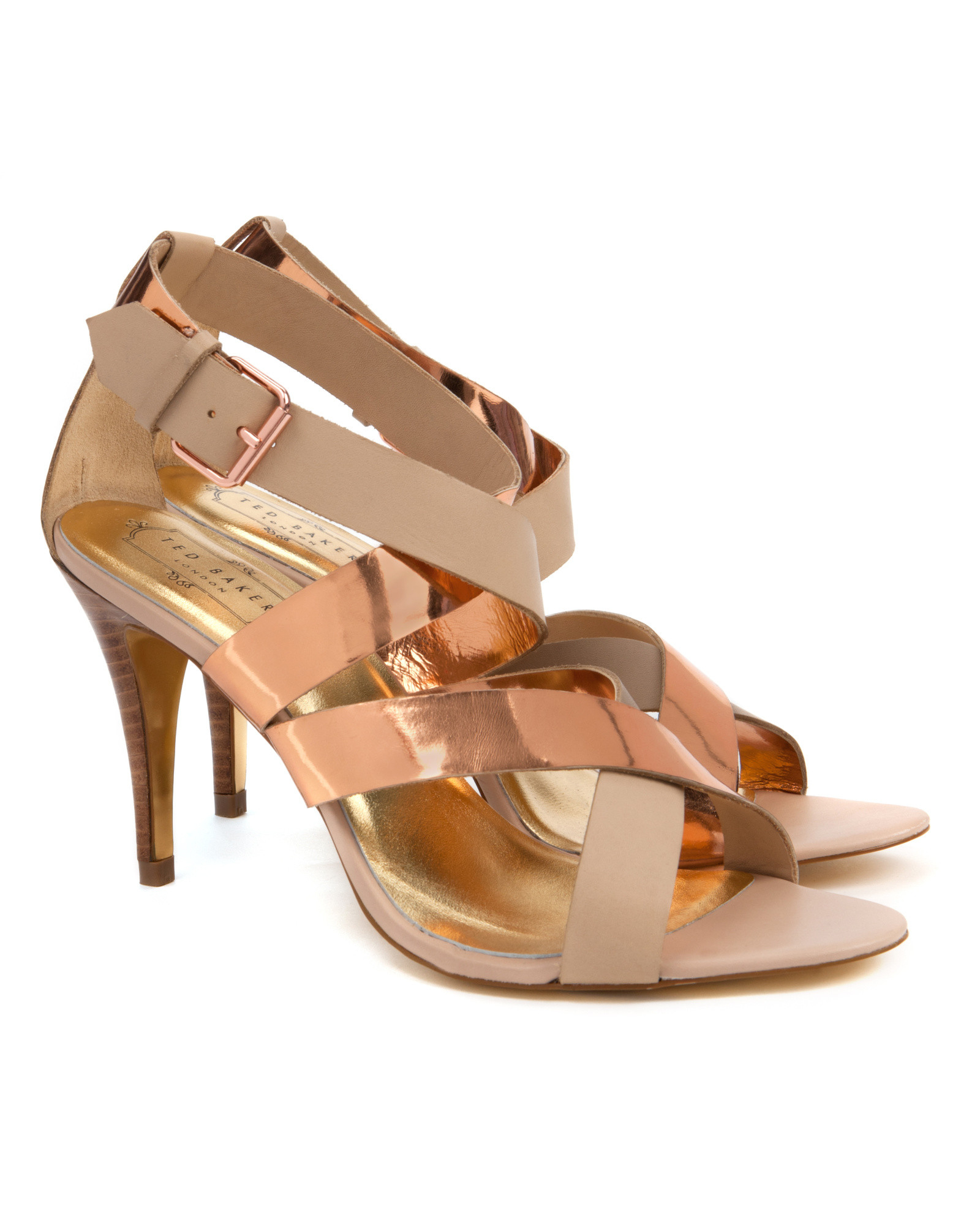 6d64ee4af Ted Baker Gladiator Heel Sandals in Natural - Lyst