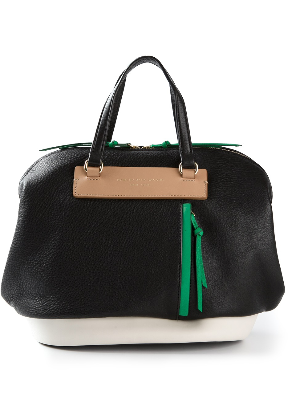 e58153f36ab Lyst - Marc By Marc Jacobs Round The Way Girl Colorblocked Tote in Black