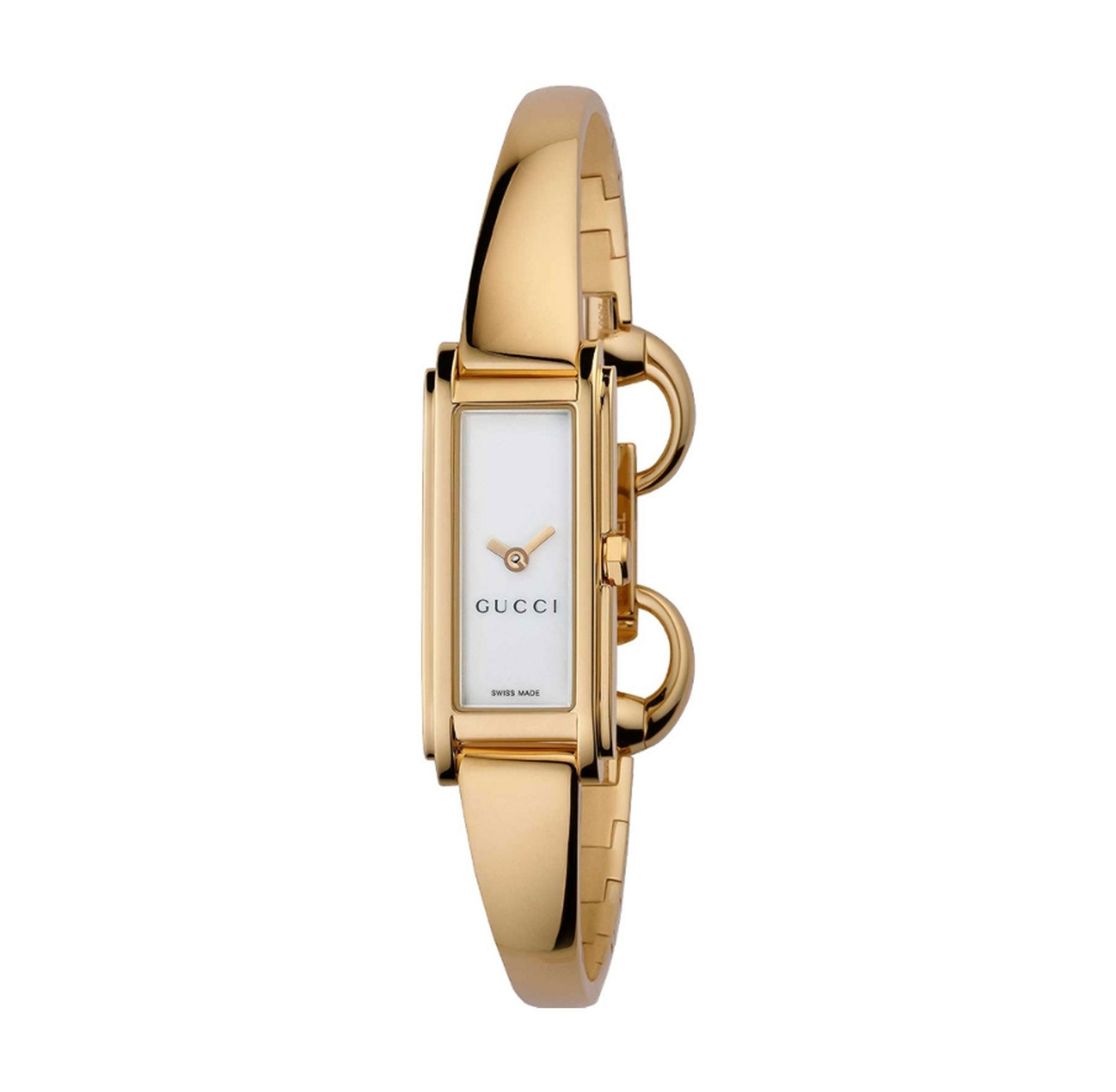7f8c7b7d638 Gucci Ya109527 Women s G Line Gold Plated Mother Of Pearl Bangle ...