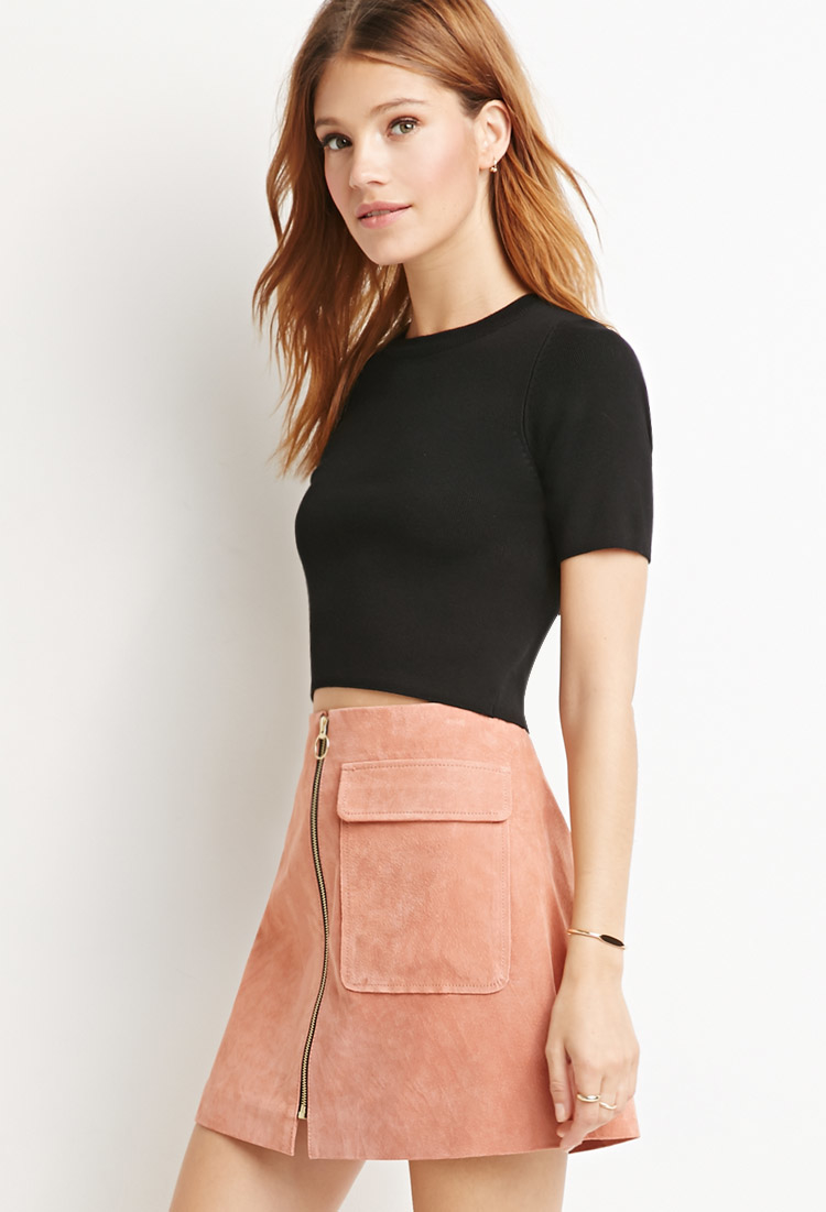 Forever 21 Contemporary Genuine Suede A Line Skirt You 39 Ve