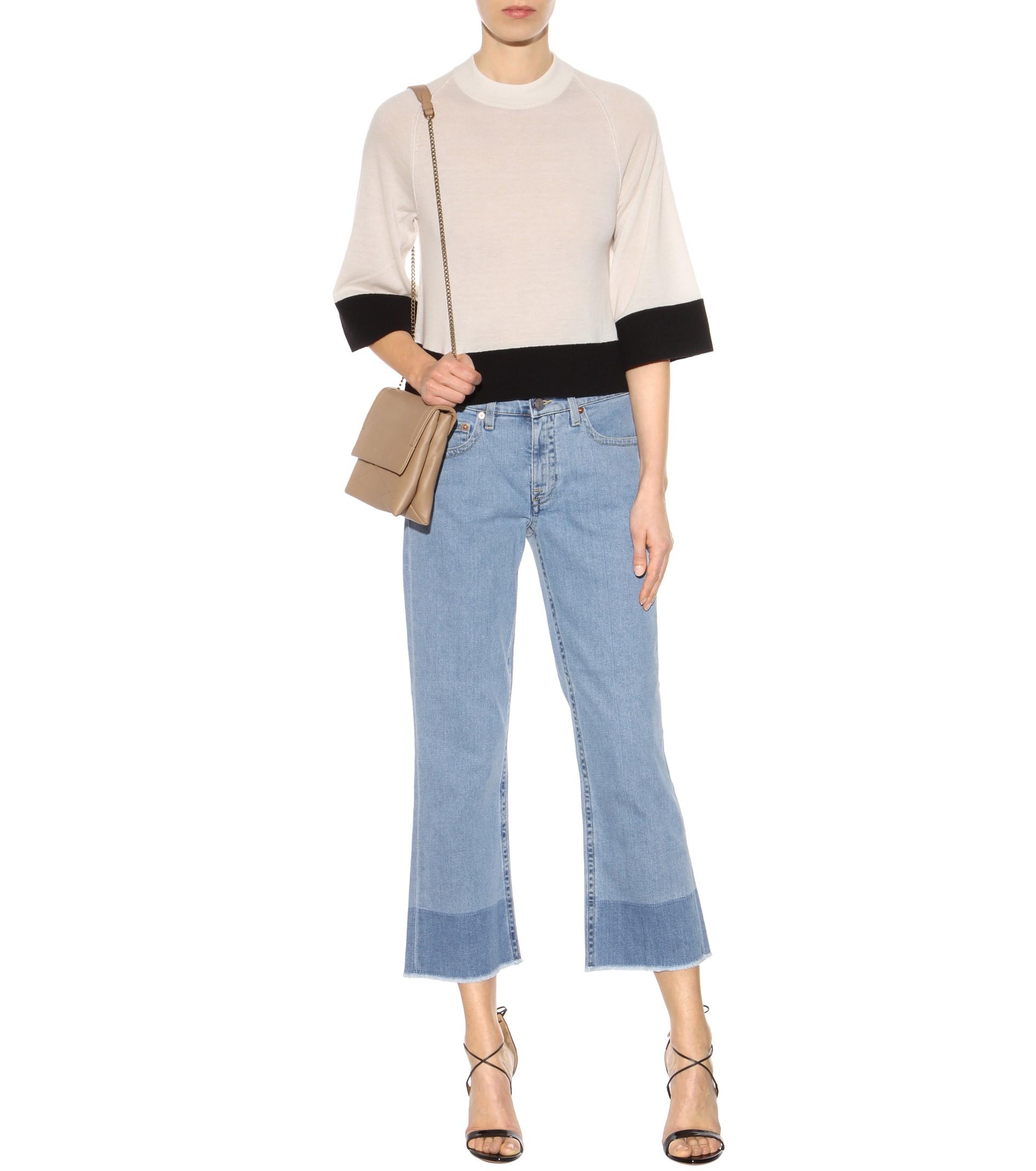 Large Jeans Jambe - Bleu Victoria Beckham xFxrmL