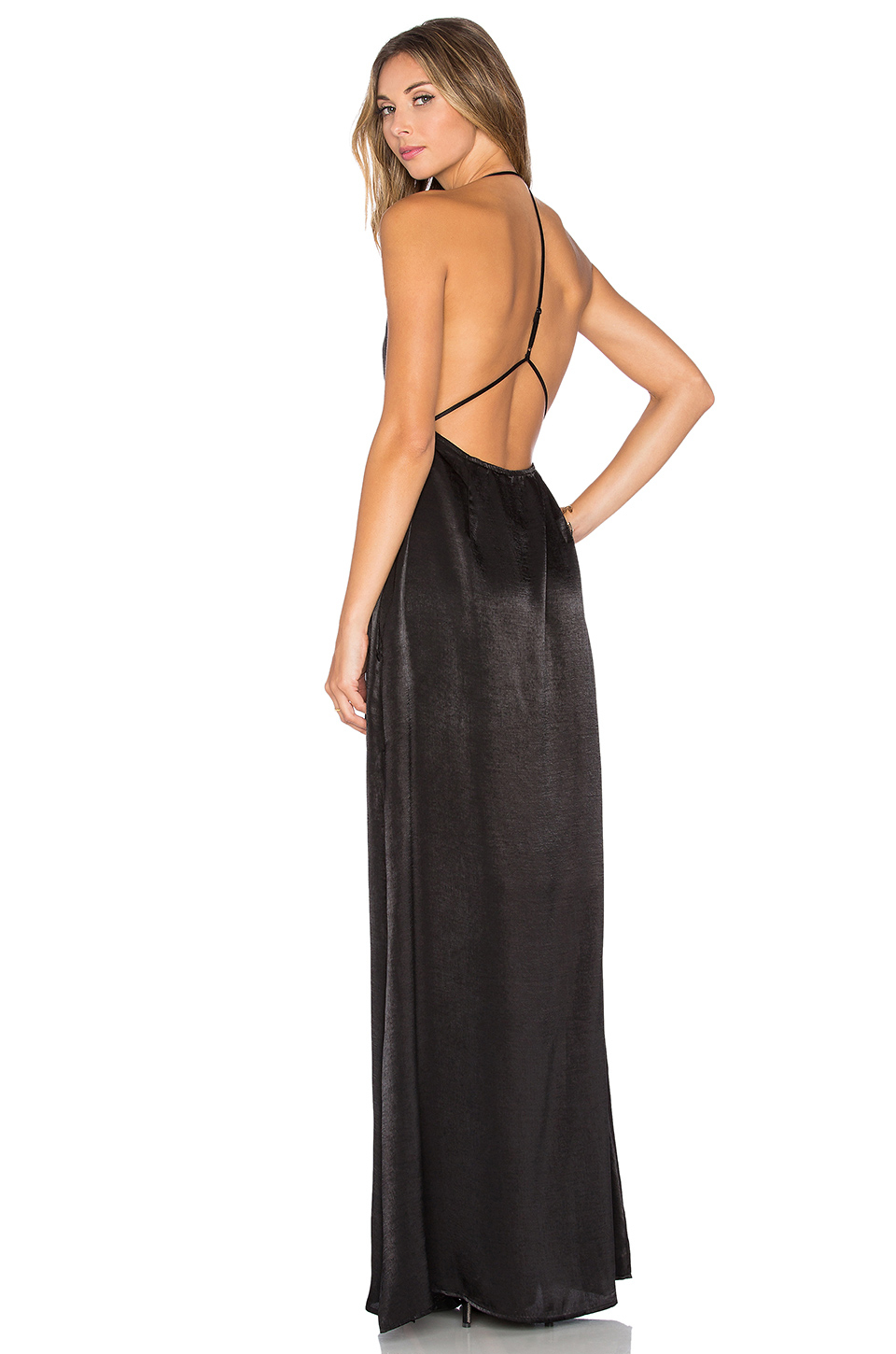 Capulet Halter Neck Maxi Dress in Black | Lyst