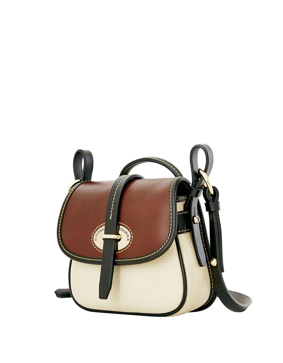 Dooney Bourke Verona Christina Leather Crossbody Bag In Brown Lyst