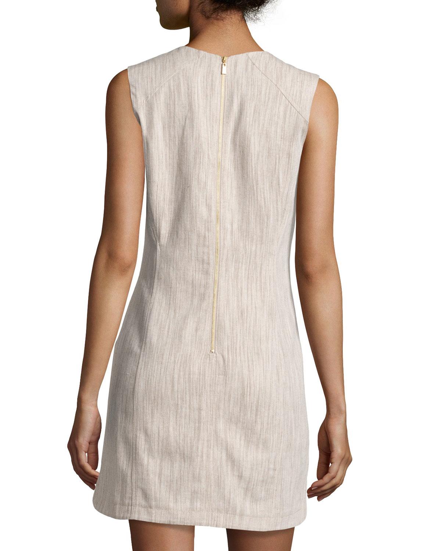 a0cf5908801d Laundry by Shelli Segal Sleeveless Linen-blend Sheath Dress in ...