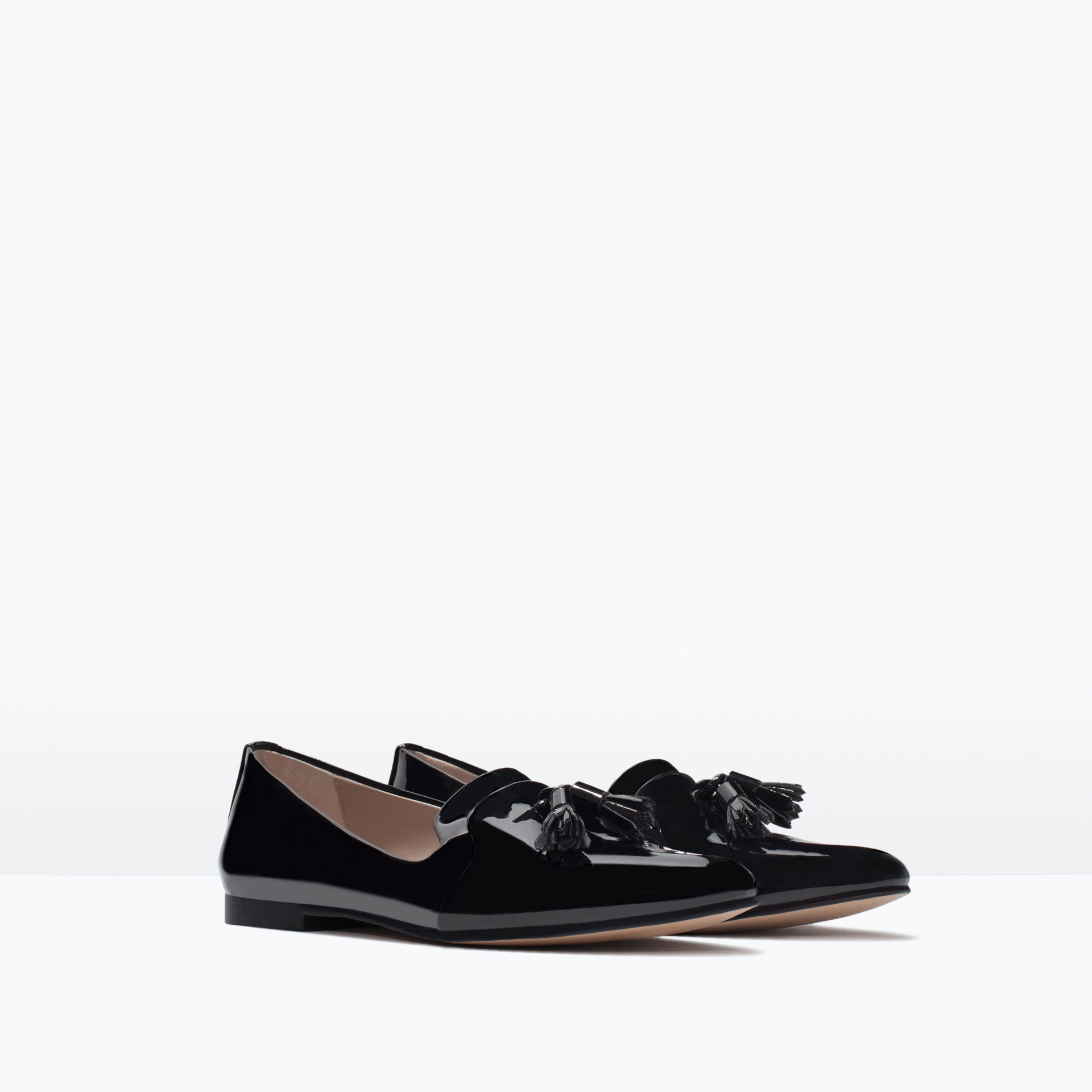 Unique Zara Moccasin With Bow Moccasin With Bow In Black  Lyst