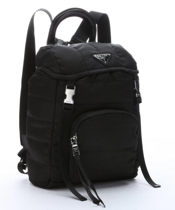 614479e1e3d1 ... promo code for lyst prada black quilted tessuto nylon small backpack in  black 7cece 3d87e sweden prada laptop ...
