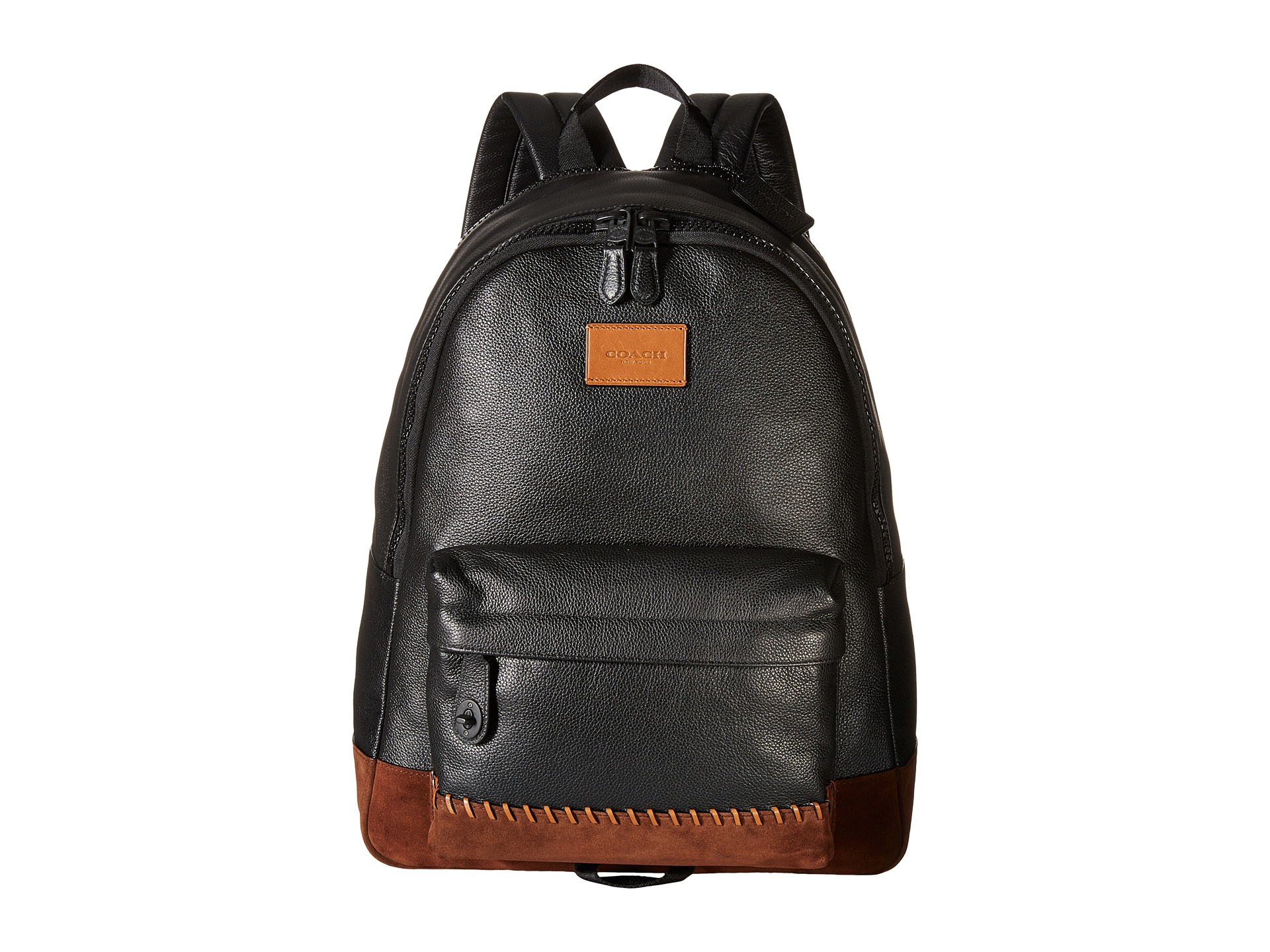 cd66393fc8f Lyst - COACH Modern Varsity Campus Backpack in Black for Men