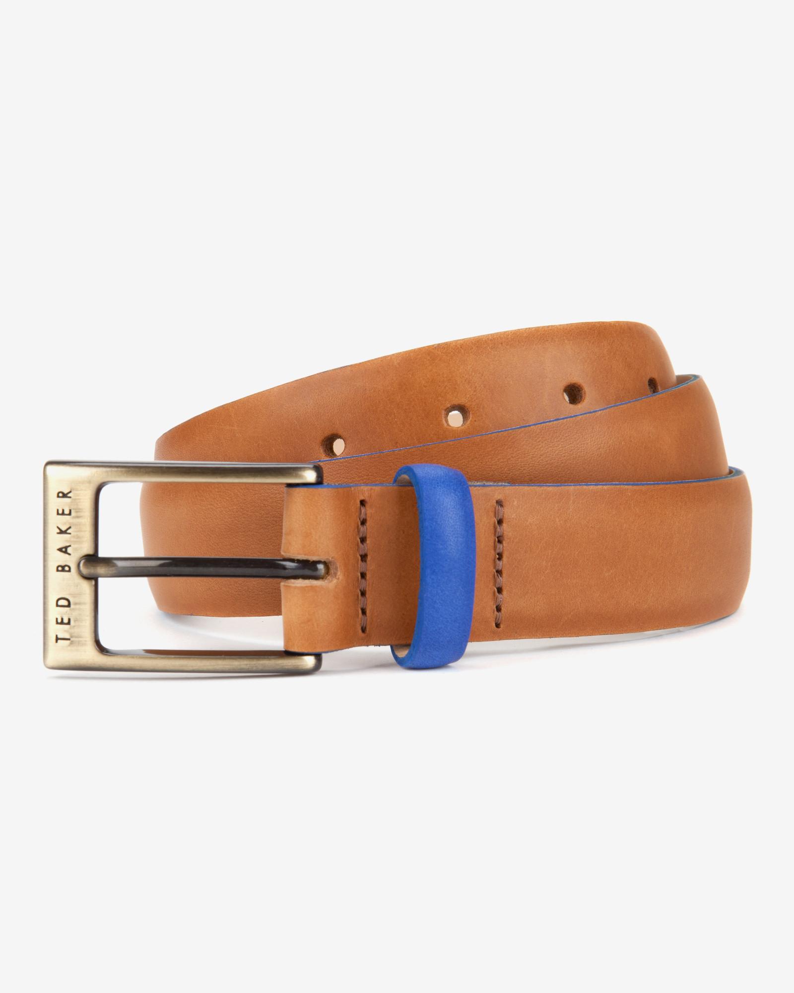 50c1aa59a Ted Baker Block Colour Belt in Orange for Men - Lyst