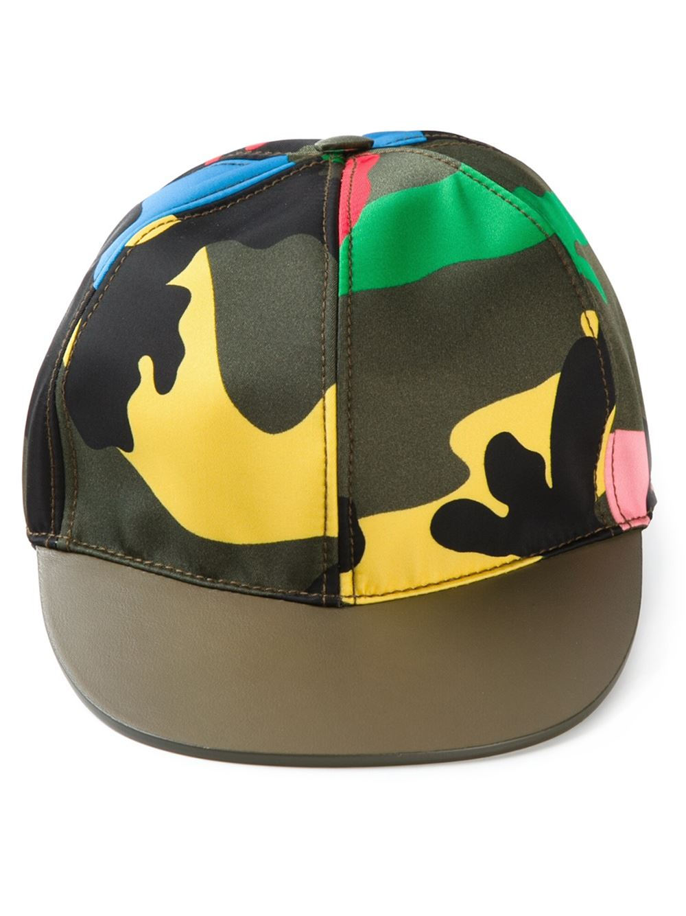 Valentino Camouflage Baseball Cap in Green - Lyst ab7c47d378e