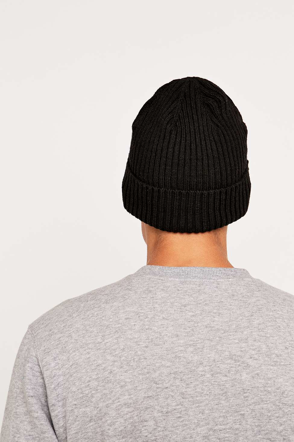 5c3a72fd484 Herschel Supply Co. Cast Black Ribbed Beanie in Black for Men - Lyst