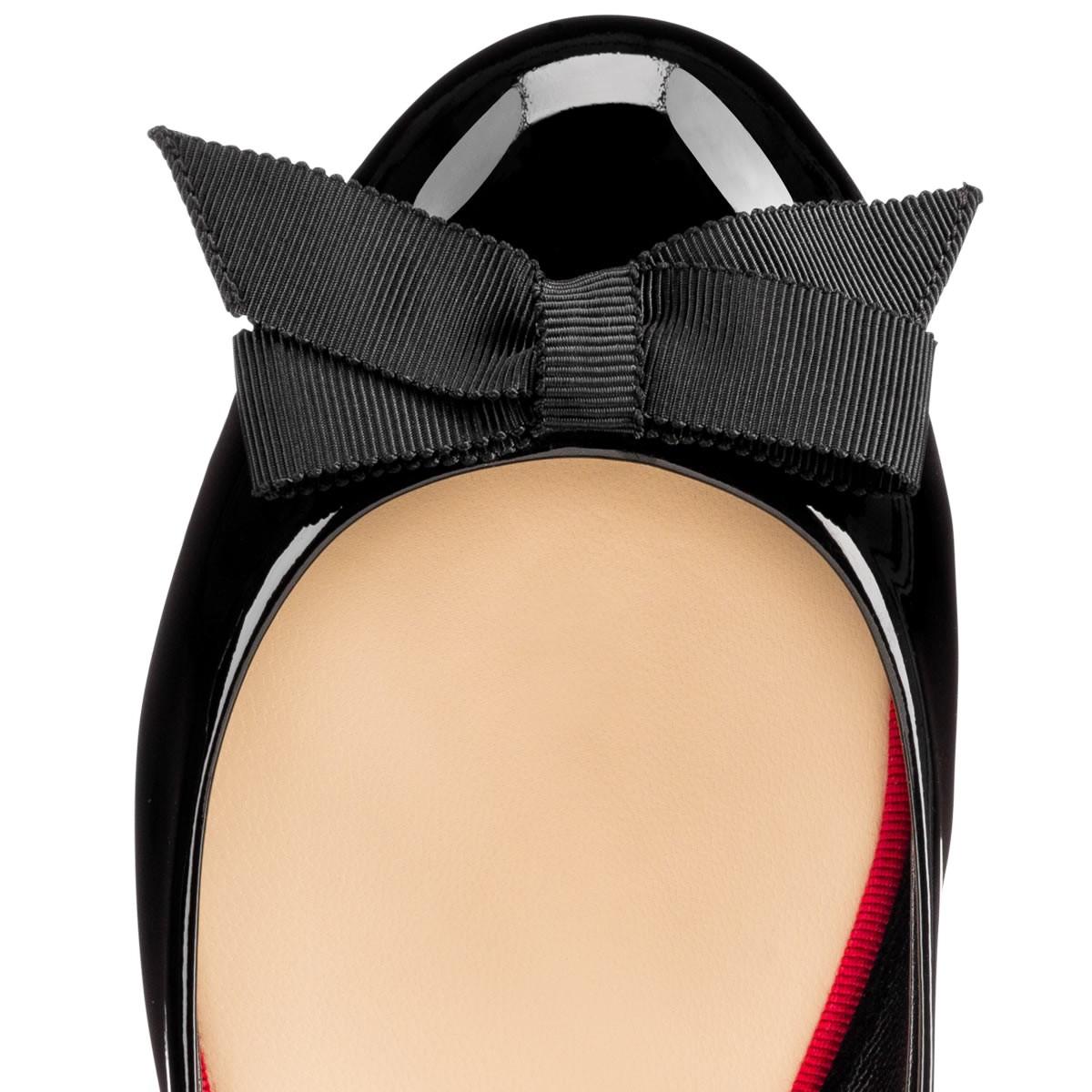 christian louboutin round-toe flats Navy twill | cosmetics digital ...