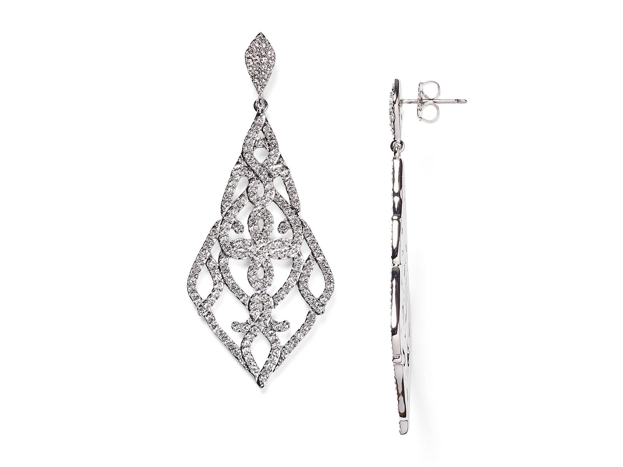 Lyst Nadri Granada Pavé Drop Earrings in Metallic