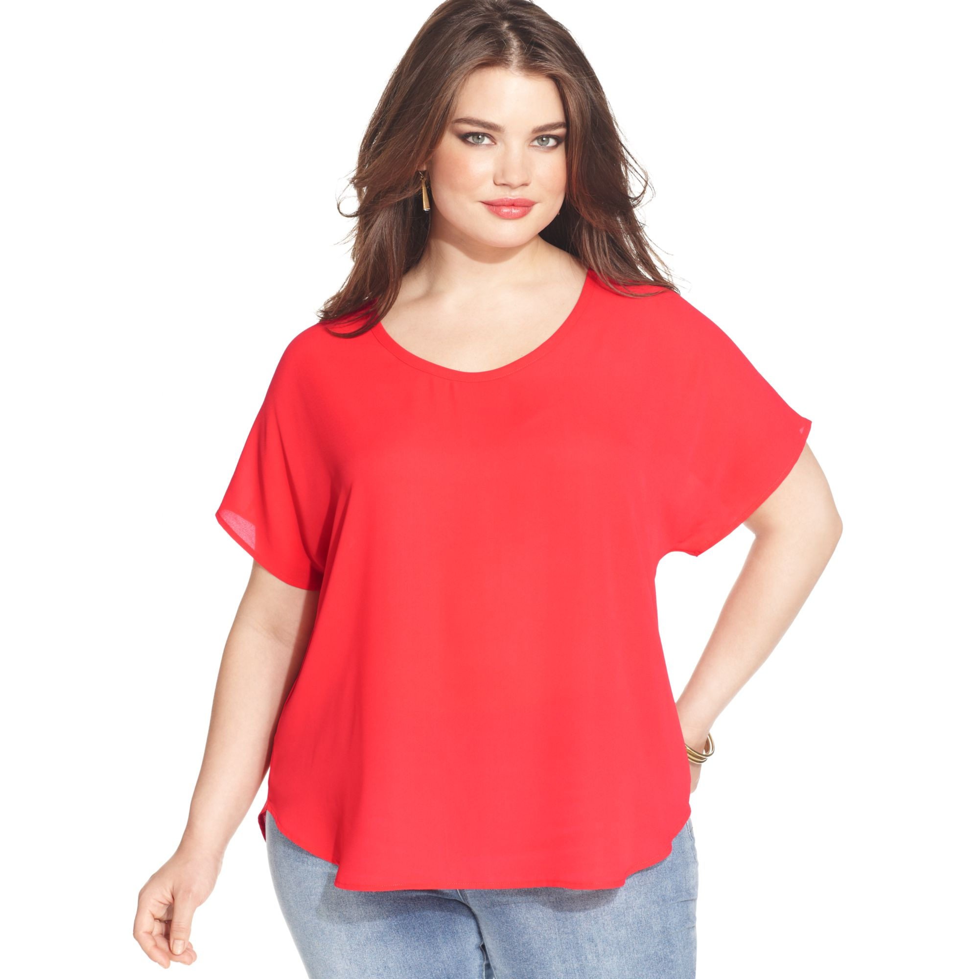 Plus Size Short Sleeve Blouses 30