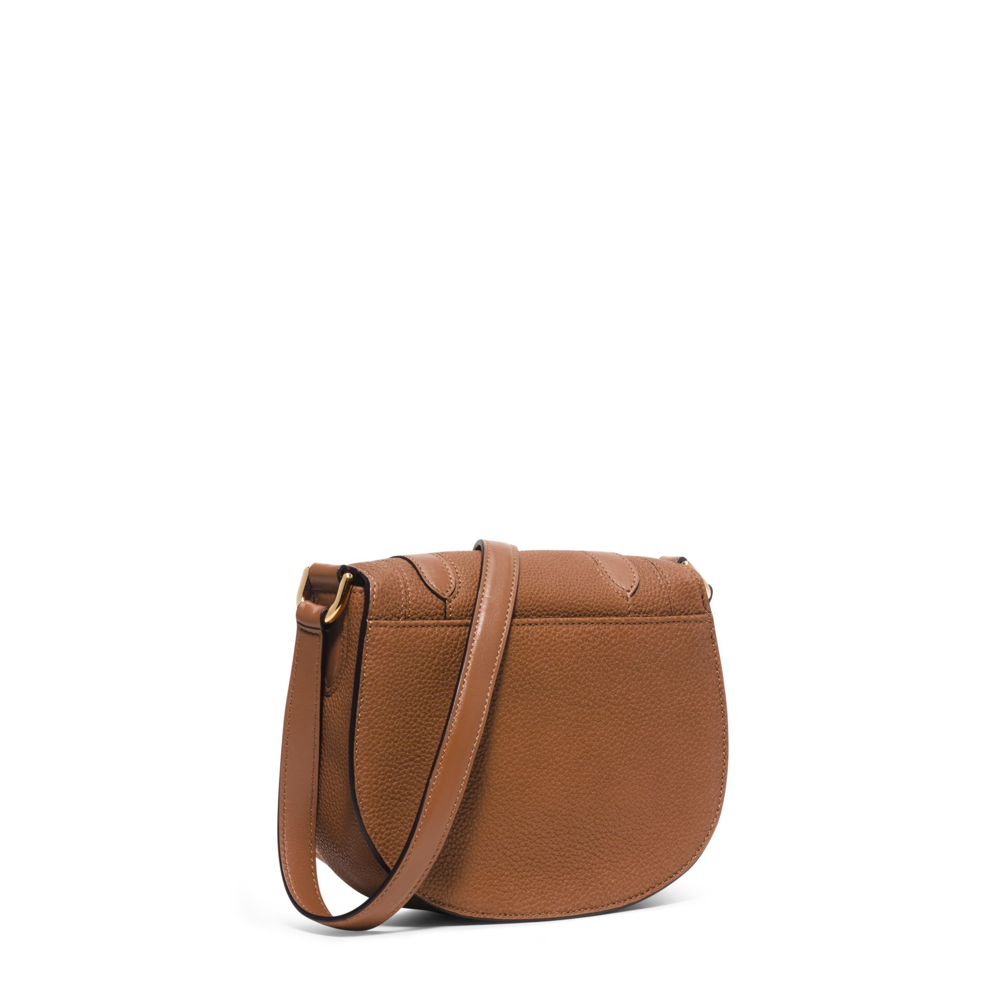 5b2639571980 Lyst - Michael Kors Skorpios Small Leather Crossbody in Brown