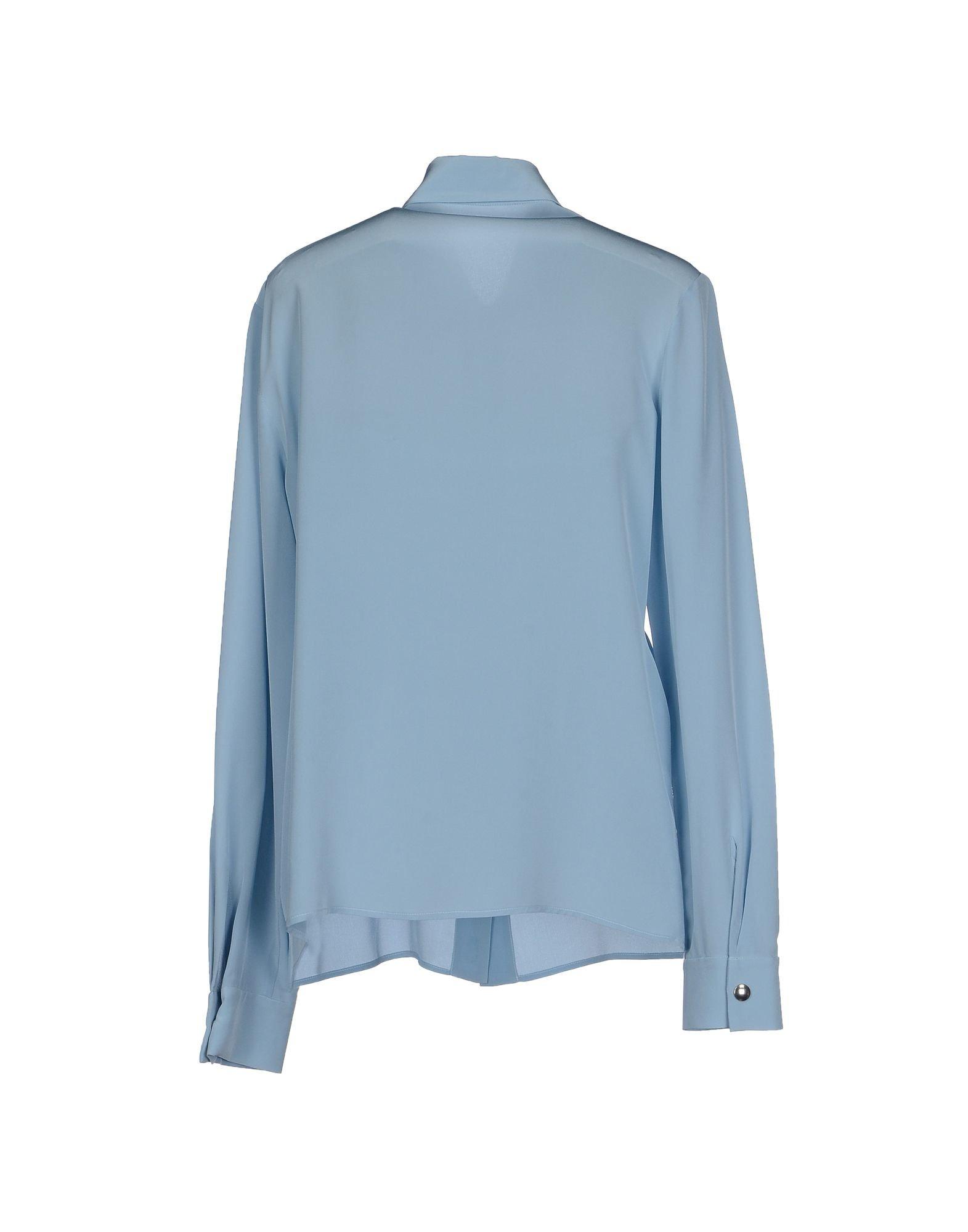 Lyst miu miu shirt in blue for Miu miu t shirt