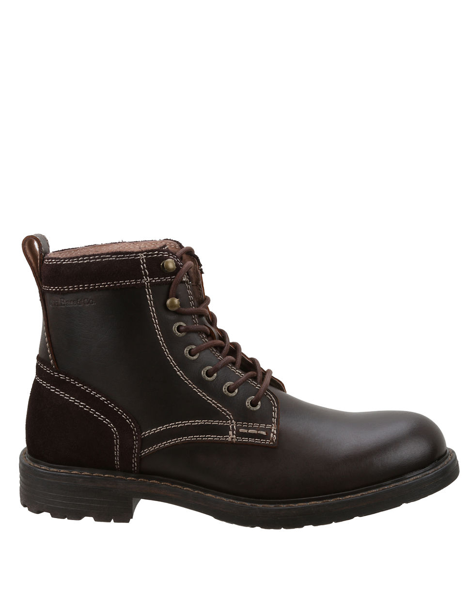 g h bass co reddington leather ankle boots in brown