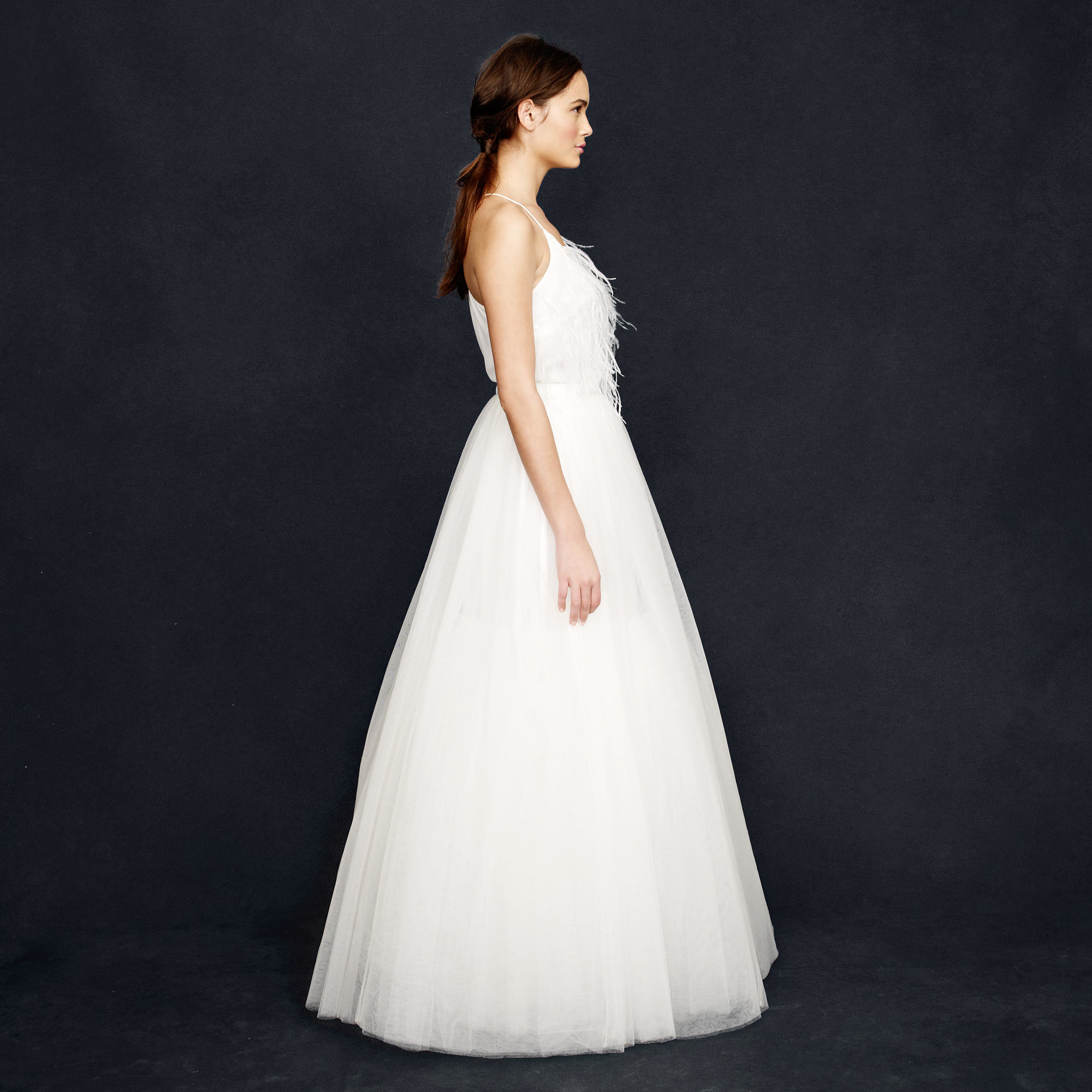 Lyst - J.Crew Collection Snowdrop Tulle Ball Gown Skirt in White