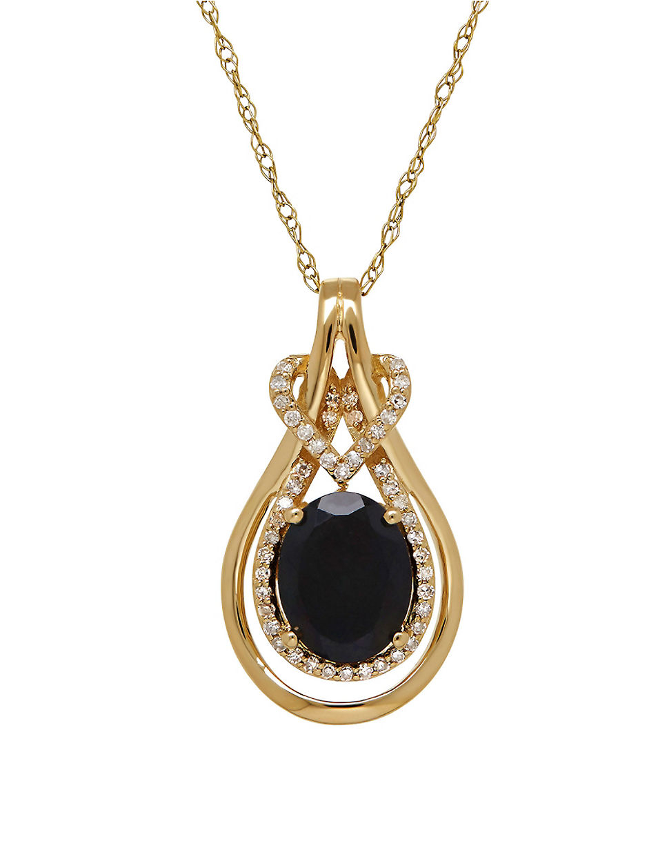Lyst Lord Amp Taylor 14k Yellow Gold Black Onyx Pendant In