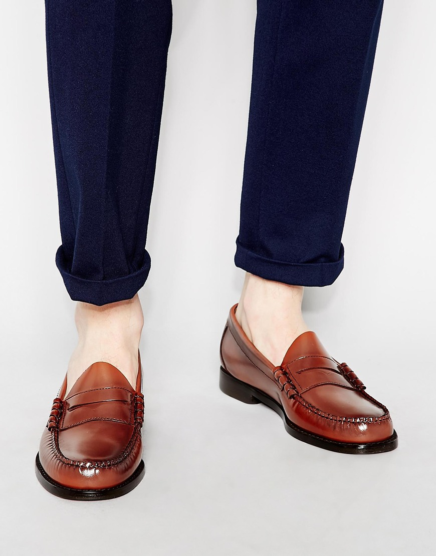 Leather Loafer Mens Fashion Penny
