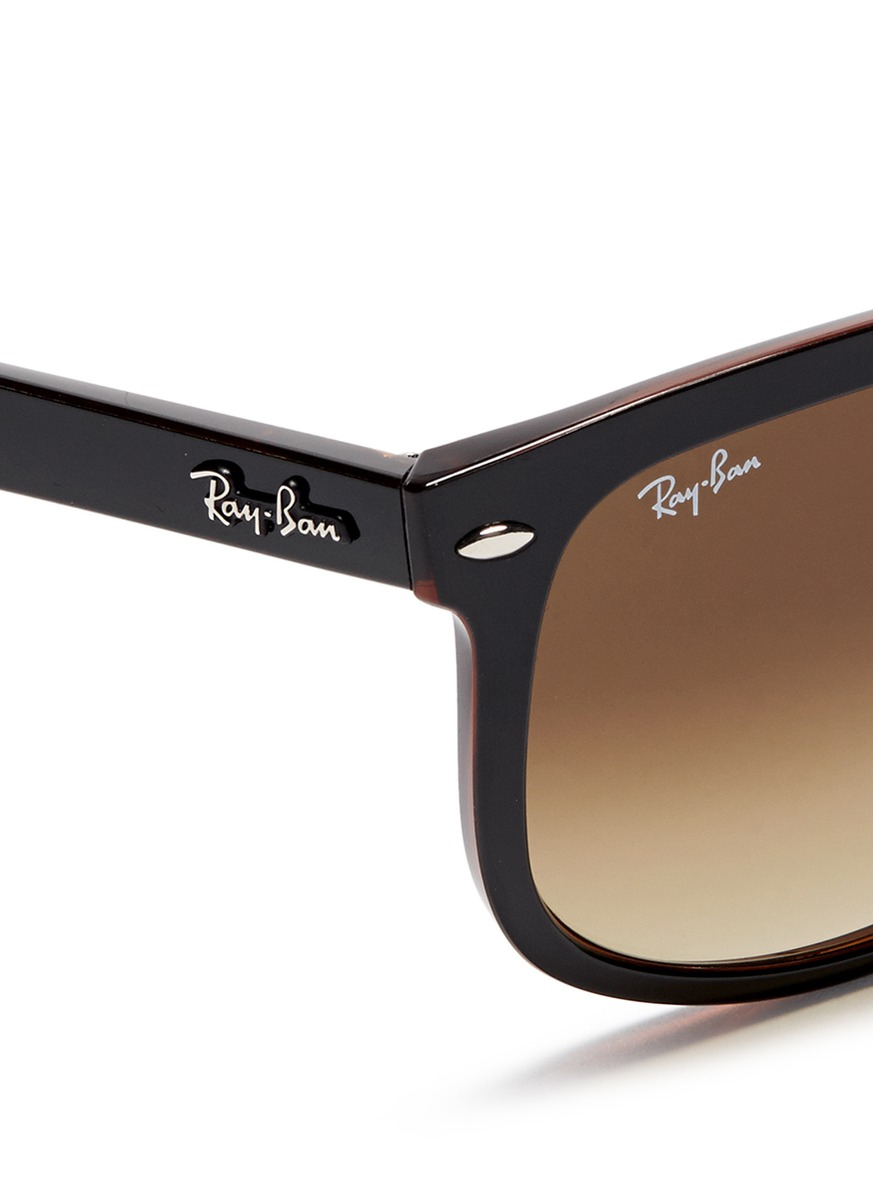 Ray-Ban \'rb4147\' Large Square Frame Acetate Sunglasses in Brown for ...