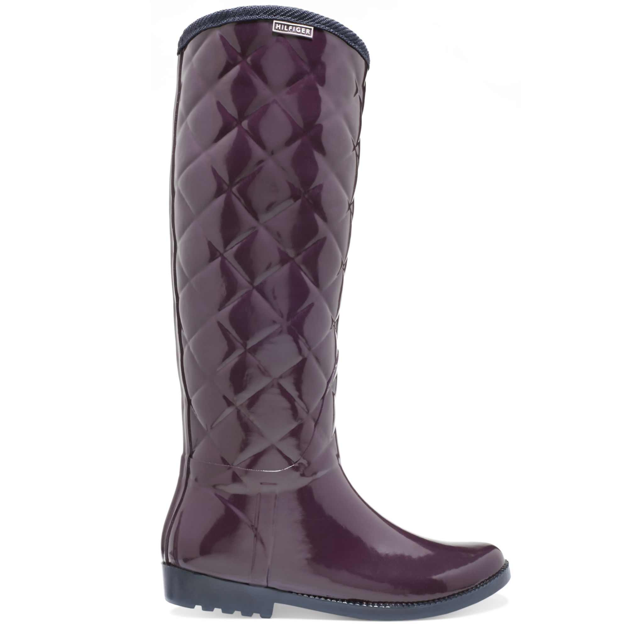 Tommy Hilfiger Vintage Tall Tufted Rain Boots In Red Beet