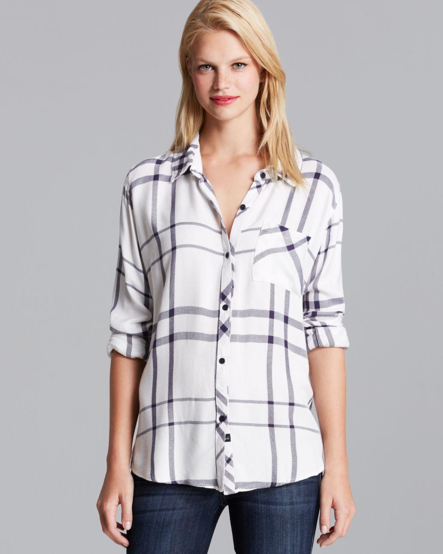 9eb4ecb767f77 Lyst - Rails Shirt - Hunter Plaid in Blue