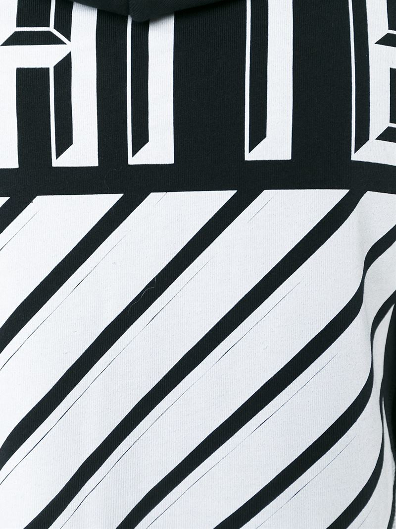 off white c o virgil abloh printed cotton hoodie in black for men lyst. Black Bedroom Furniture Sets. Home Design Ideas