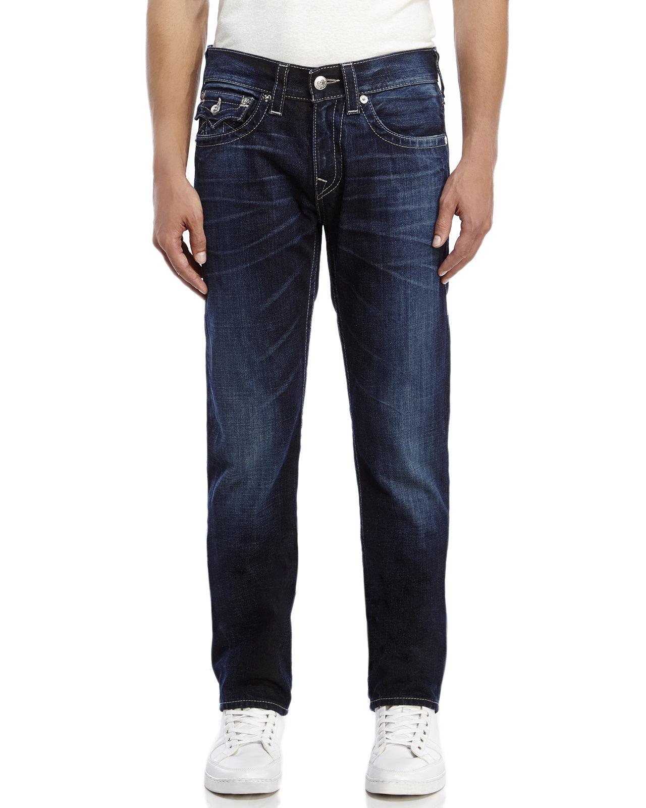 Lyst - True Religion Back Flap Pocket Jeans in Blue for Men