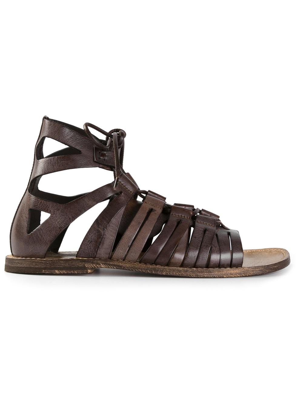 Lyst Dolce Amp Gabbana Gladiator Sandals In Brown For Men