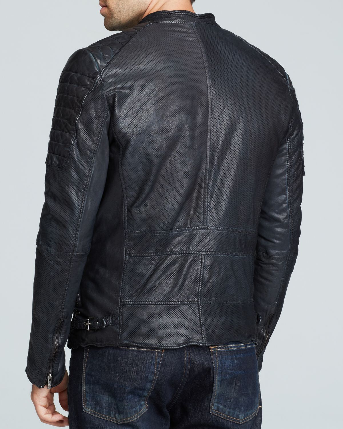 Scotch & soda Leather Jacket in Black for Men | Lyst : scotch and soda quilted leather jacket - Adamdwight.com
