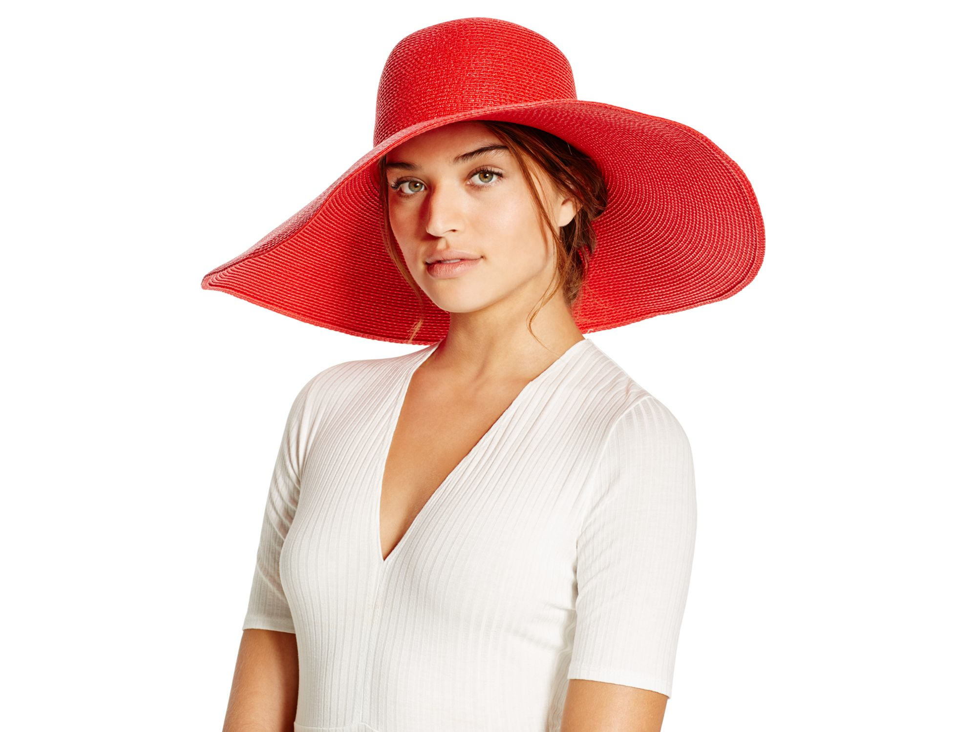 Lyst - Eric Javits Floppy Hat in Red 262ba11a59cf