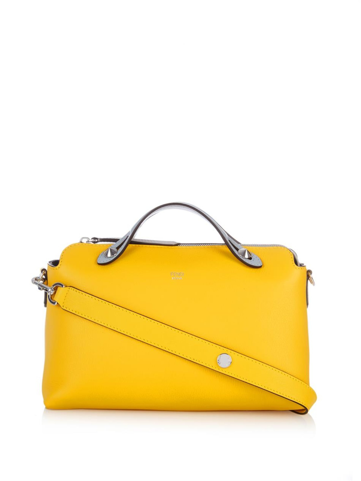 657c5a12033 ... wholesale lyst fendi by the way leather cross body bag in yellow dc661  87139