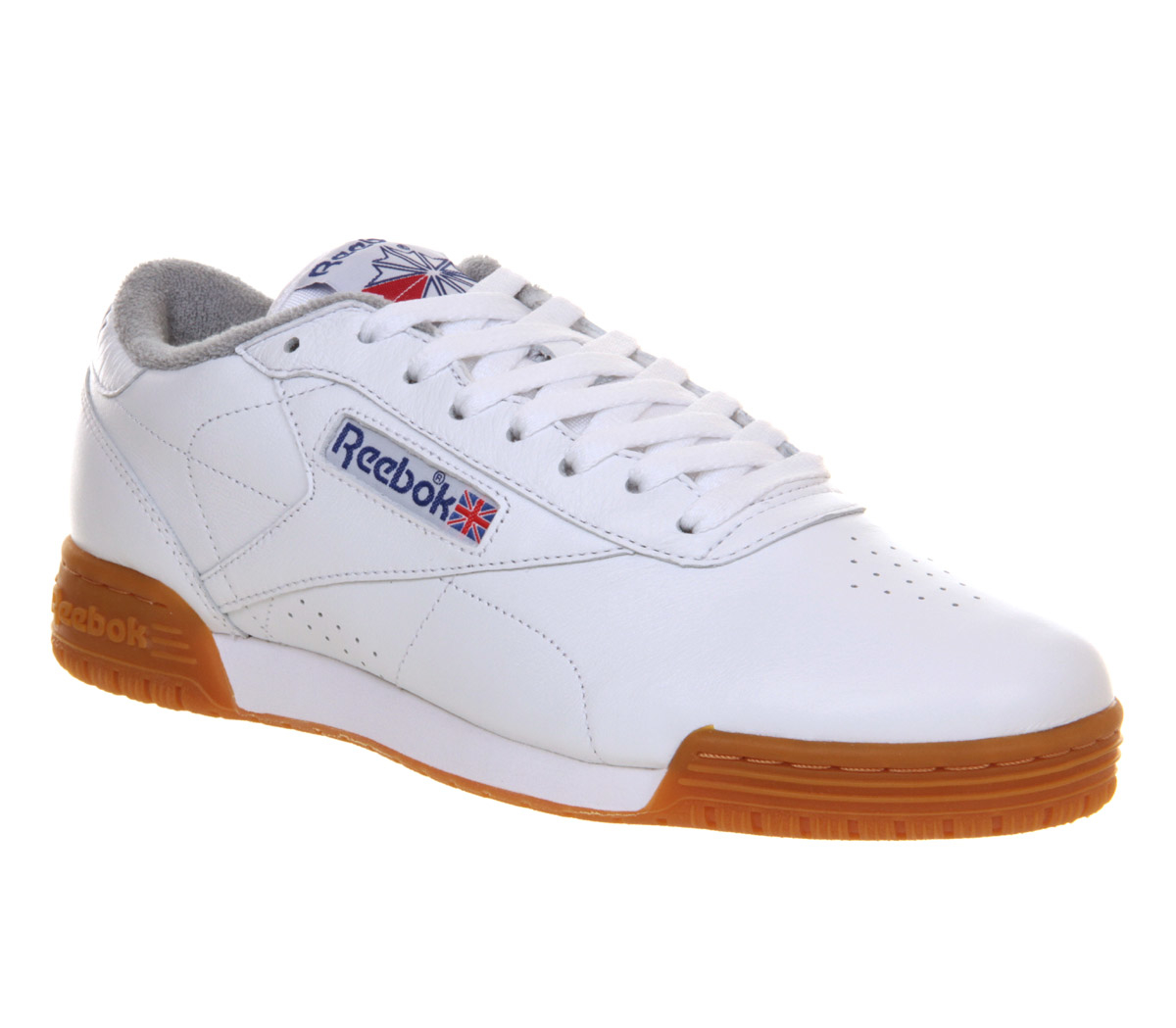 White And Gray Bathroom: Reebok Ex O-fit Lo In White For Men