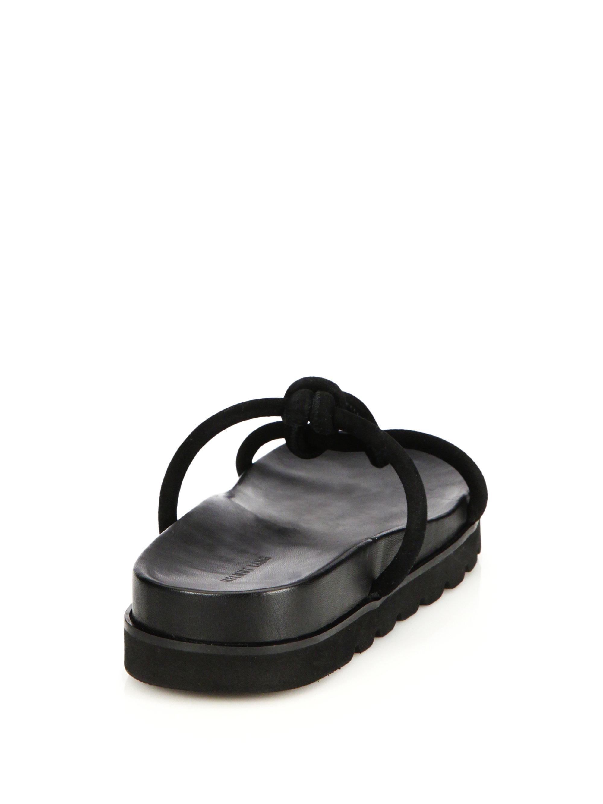 sale exclusive Helmut Lang Leather Slide Sandals buy cheap amazon tSx781