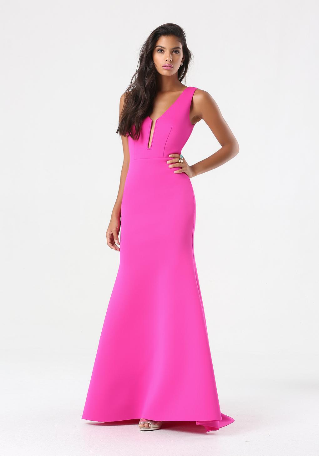 Lyst - Bebe Deep V Mermaid Gown in Purple