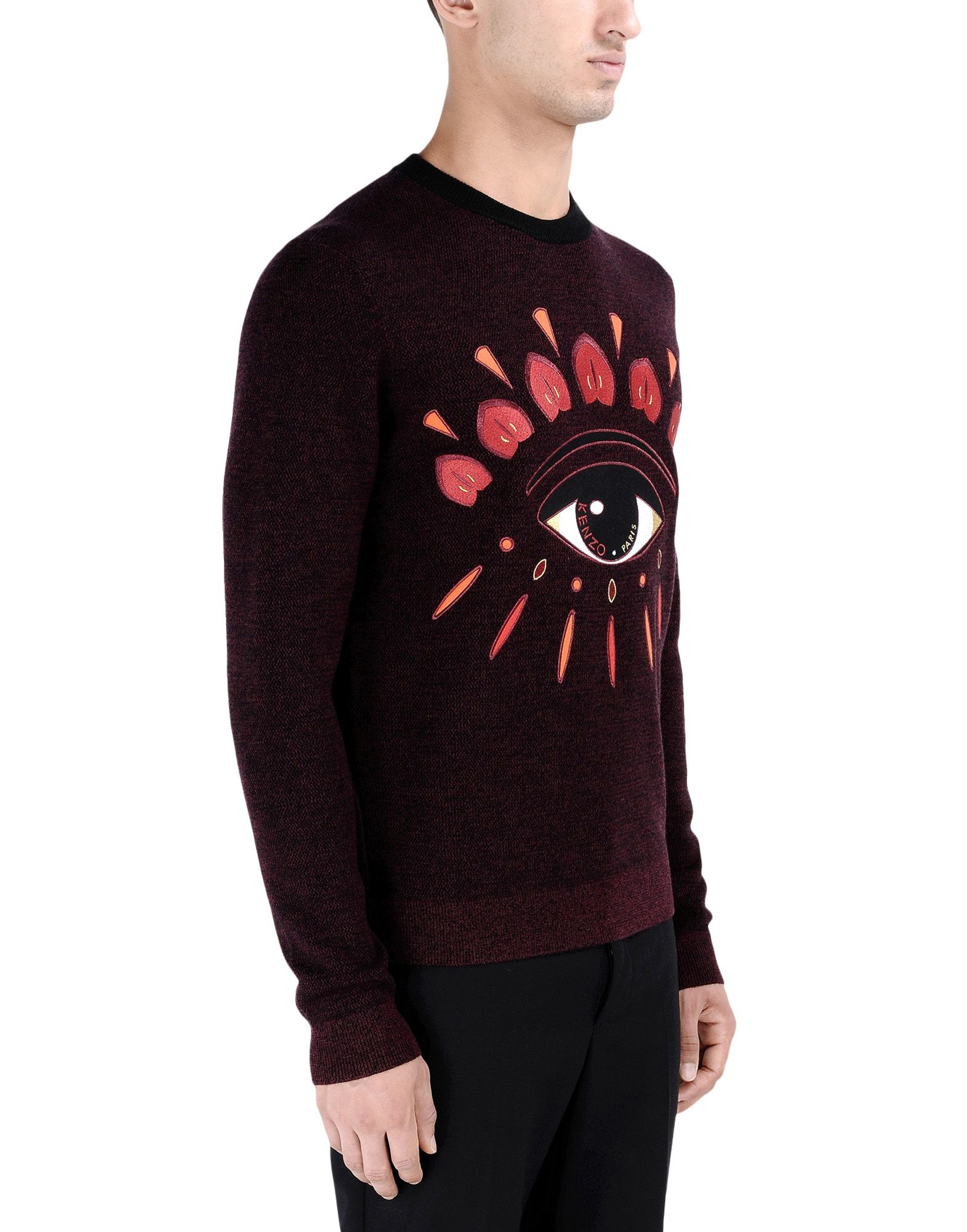 kenzo crewneck sweater in brown for men maroon lyst. Black Bedroom Furniture Sets. Home Design Ideas