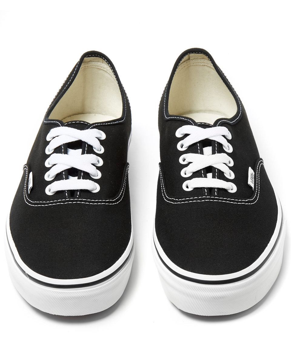 85b53f8234a169 Vans Black Authentic Classic Slip-on Trainers in Black for Men - Lyst