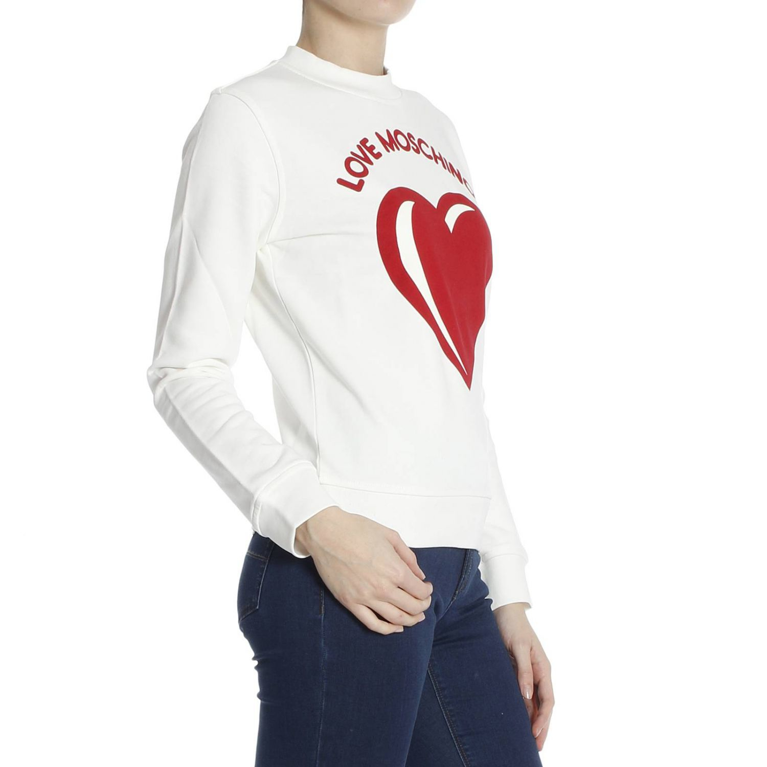 love moschino moschino women 39 s sweater in white lyst. Black Bedroom Furniture Sets. Home Design Ideas