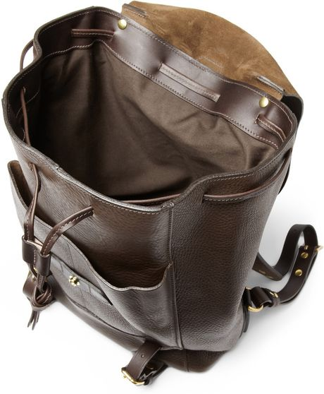 bill amberg hunter full grain leather backpack in brown for men lyst. Black Bedroom Furniture Sets. Home Design Ideas