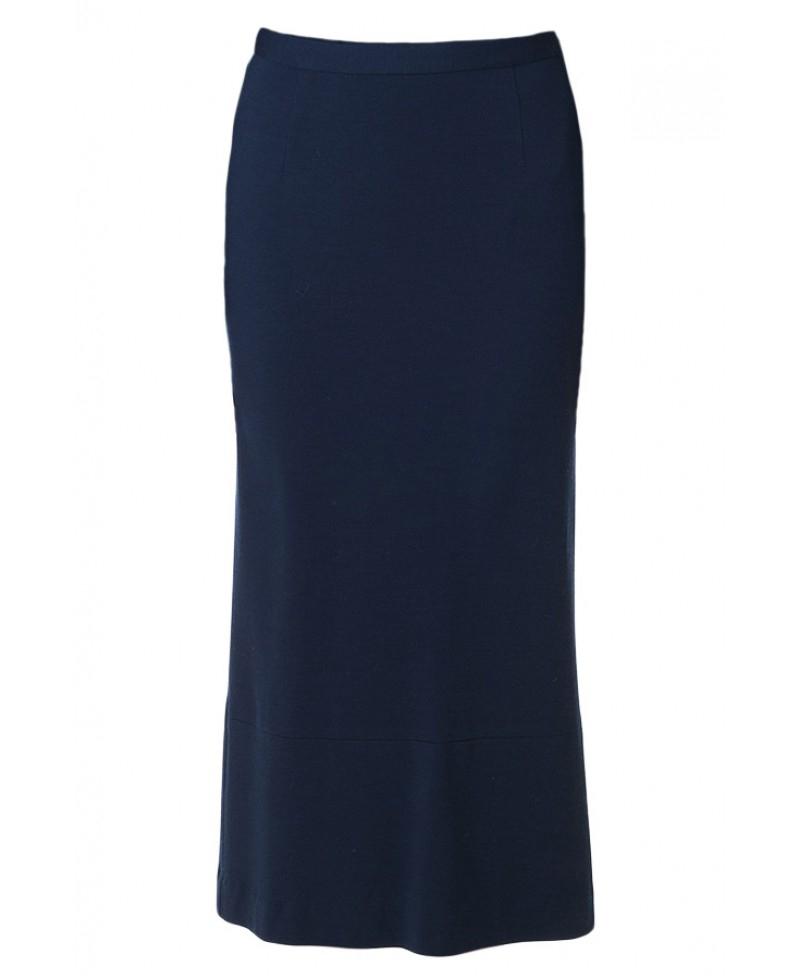 tibi navy wool jersey skirt in blue lyst