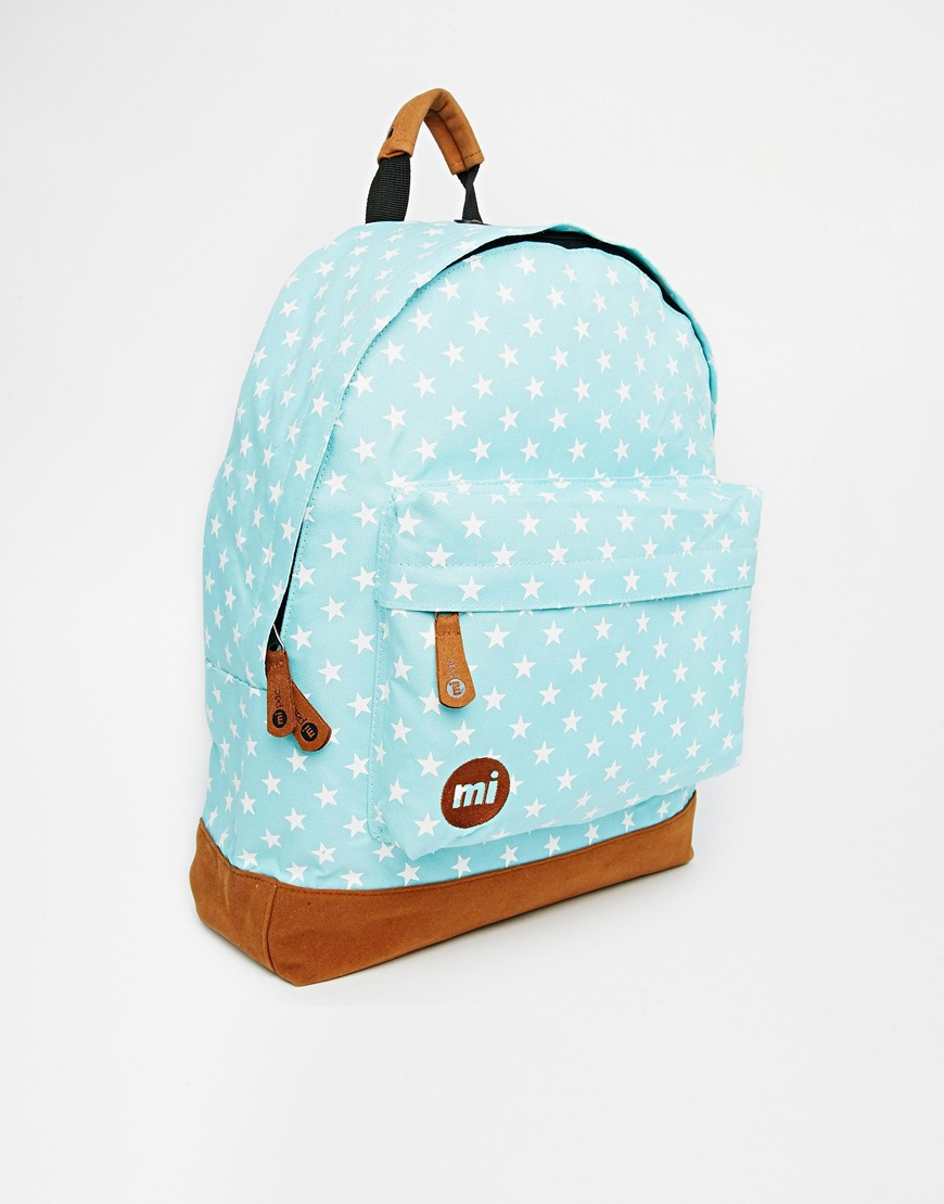 935aedcfe6525 Mi-Pac All Over Stars Backpack In Aqua in Blue - Lyst
