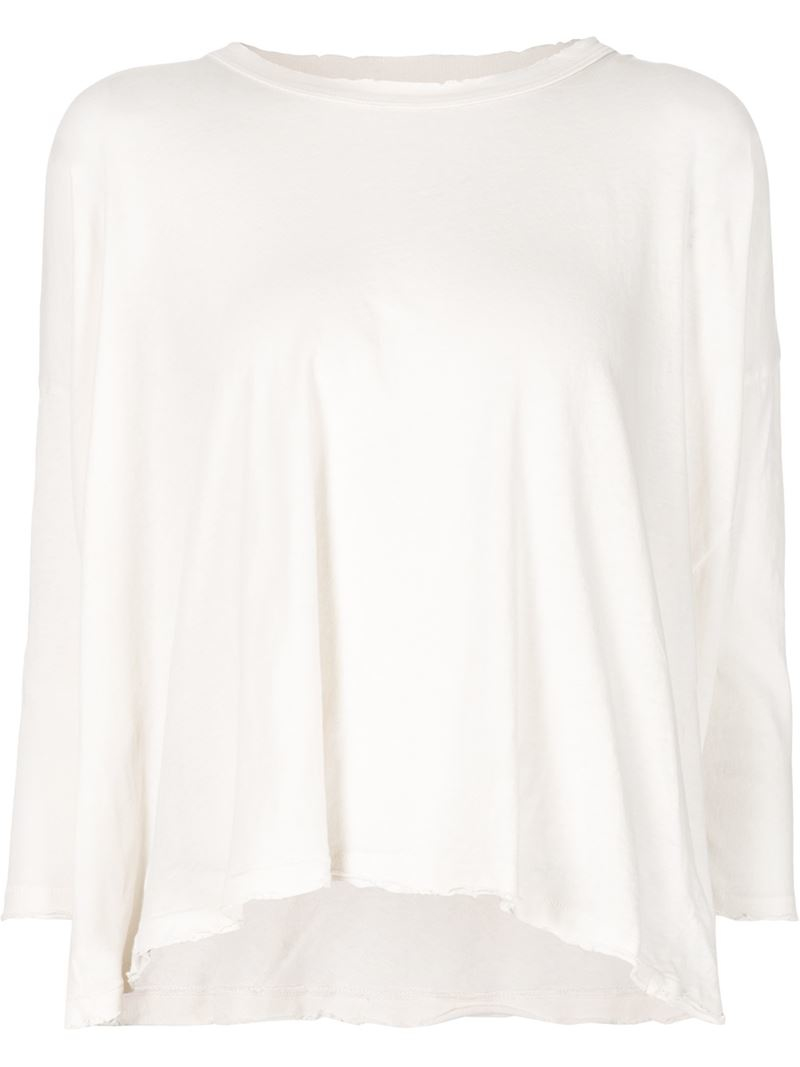 Lyst The Great 39 The Square 39 T Shirt In White