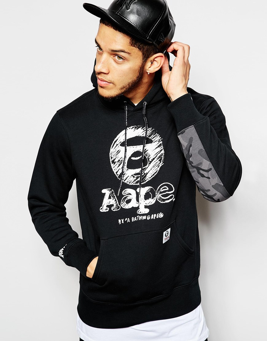 2cf7bf5e07b Lyst - Aape By A Bathing Ape Hoodie With Logo in Black for Men