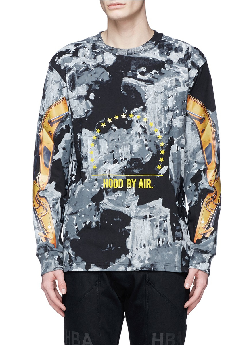 Hood By Air 39 Bulldozer Arm 39 Print Long Sleeve T Shirt For