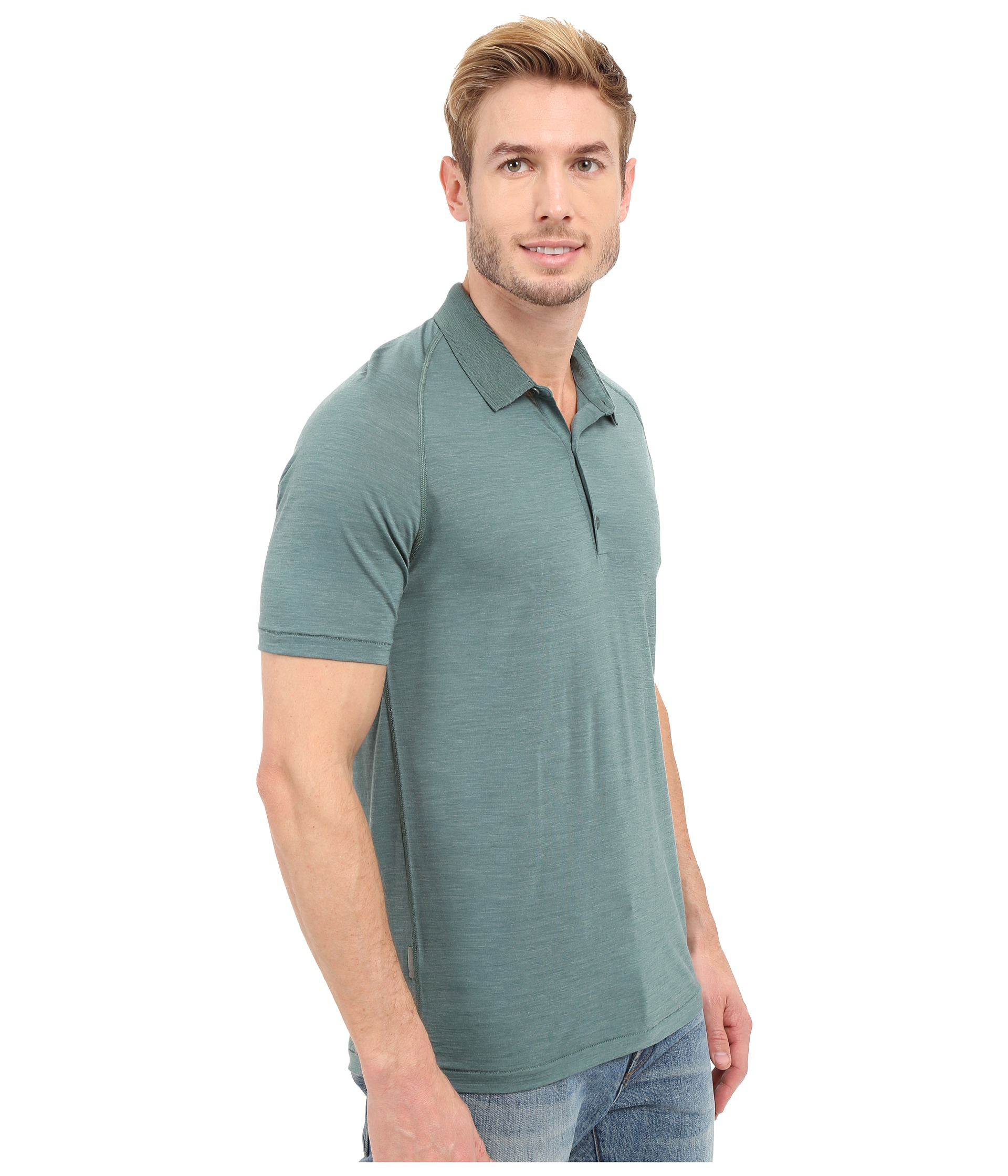 icebreaker sphere s s polo in blue for lyst