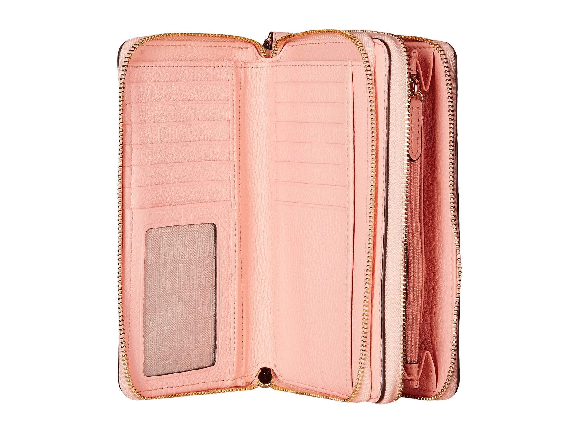 065447ea7038 Lyst - MICHAEL Michael Kors Adele Large Flat Multifunction Phone Case in  Pink
